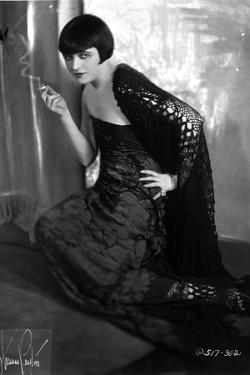 Pola Negri Kneeling on Floor with Embroidered Dress by Movie Star News