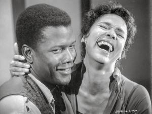Porgy And Bess smiling in Black and White Close Up Couple Portrait by Movie Star News