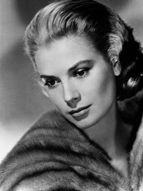 Portrait of Grace Kelly Black and White by Movie Star News