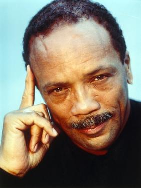 Quincy Jones Thinking Pose in Close Up Portrait by Movie Star News