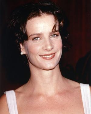 Rachel Griffiths smiling in White Sleeveless Dress by Movie Star News