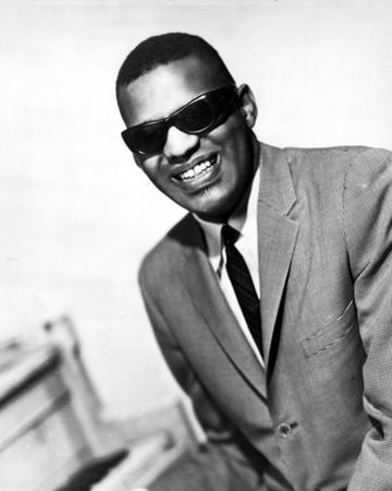Ray Charles in Brown Suit With Sunglasses