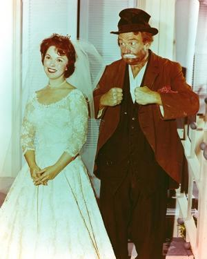 Red Skelton posed with Bride Portrait by Movie Star News