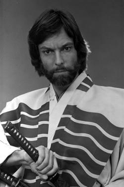 Richard Chamberlain Posed in Swordsman Attire With Sword by Movie Star News
