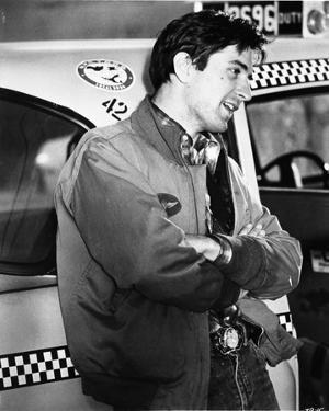 Robert Deniro Leaning on Taxi Cab by Movie Star News