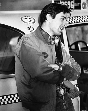 Robert Deniro Leaning on Taxi Cab