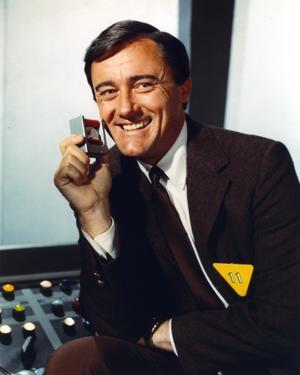 Robert Vaughn Portrait in Brown Suit by Movie Star News