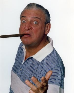Rodney Dangerfield White Background with Cigar Portrait by Movie Star News