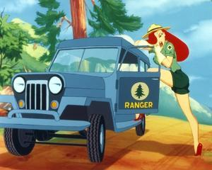 Roger Rabbit Jessica Rabbit in Forest Ranger Outfit by Movie Star News