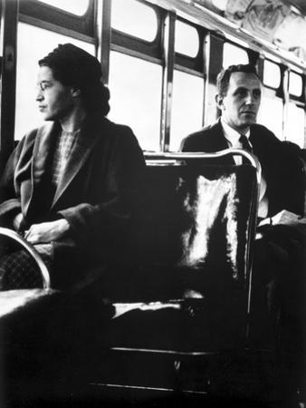 Rosa Parks sitting on a Public Vehicle by Movie Star News