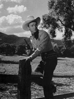Roy Rogers Going Over the Fence by Movie Star News
