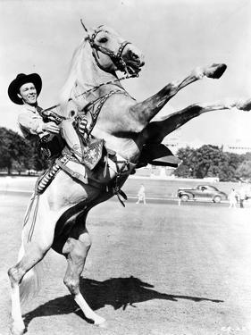 Roy Rogers Rides a Rearing Horse by Movie Star News