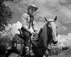 Roy Rogers Riding on a Horse by Movie Star News
