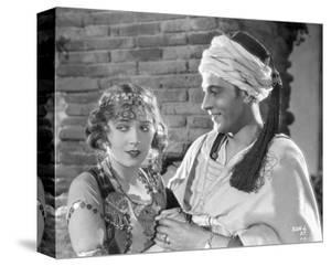 Rudolph Valentino Portrait in White Arabic Costume by Movie Star News