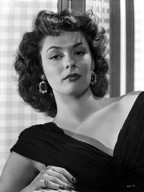 Ruth Roman Curly Hair in Black Gown by Movie Star News