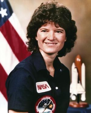 Sally Ride Close Up Portrait by Movie Star News