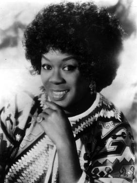 Sarah Vaughan in Black and White Portrait by Movie Star News