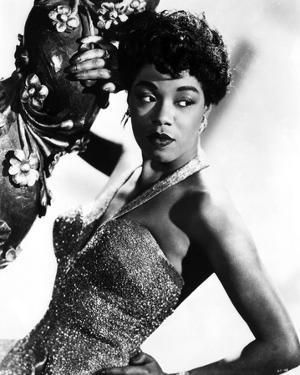 Sarah Vaughan wearing Gown Portrait by Movie Star News