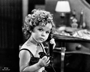 Shirley Temple On the Phone Classic Portrait by Movie Star News