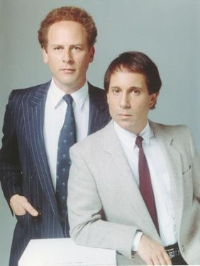 Simon & Garfunkel wearing a Coat and Tie in a Portrait by Movie Star News
