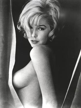 Stella Stevens Topless in Black and White Portrait by Movie Star News