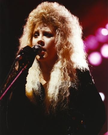 Stevie Nicks in Blue Dress With Microphone Portrait by Movie Star News