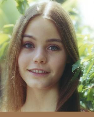 Susan Dey smiling smiling with Leaves on Background by Movie Star News