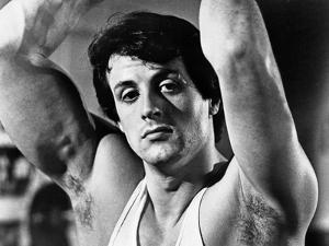 Sylvester Stallone wearing a Tank Top and Hands Raised by Movie Star News