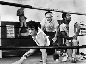 Sylvester Stallone Working out in a Classic Movie Scene by Movie Star News