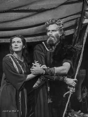 Ten Commandments Portrait of Moses in Black and White by Movie Star News