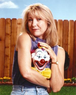 Teri Garr smiling Portrait Blue Sleeveless Shirt by Movie Star News