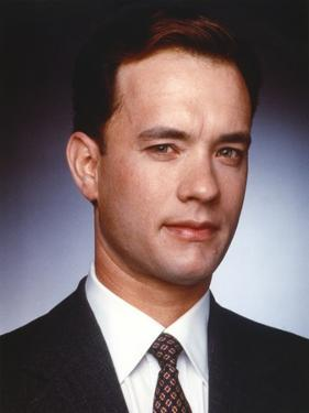 Tom Hanks Close Up Portrait in Black Coat by Movie Star News
