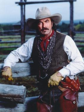 Tom Selleck in Cow Bot Outfit Portrait by Movie Star News