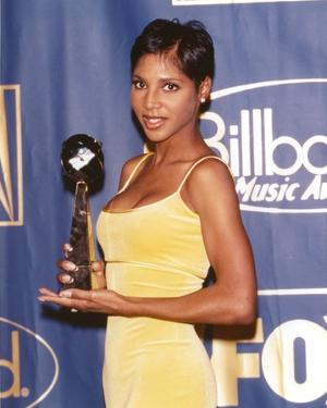 Toni Braxton in Yellow Dress Portrait by Movie Star News