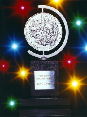 Tony Award Trophy Picture with Lights Background by Movie Star News
