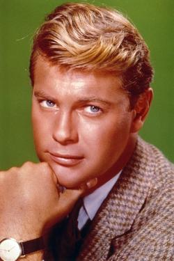 Troy Donahue Green Background Close Up Portrait by Movie Star News