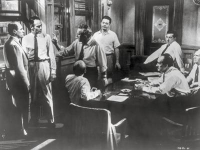 Twelve Angry Men Movie Scene in a Room with Men Arguing