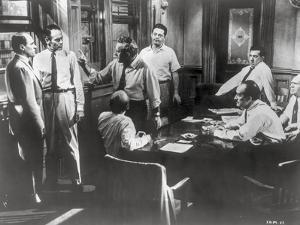 Twelve Angry Men Movie Scene in a Room with Men Arguing by Movie Star News