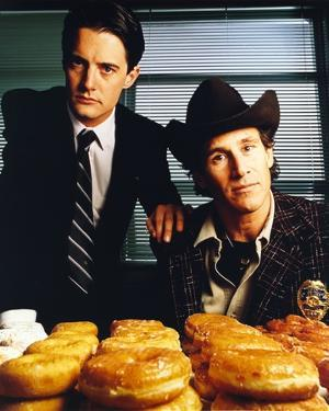 Twin Peaks Portrait With Donut by Movie Star News