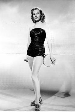 Virginia Mayo Posed in Slim Fit Dress by Movie Star News