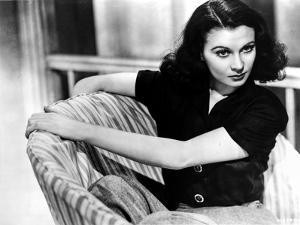 Vivien Leigh Seated on Chair in Blouse by Movie Star News