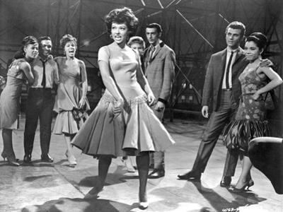West Side Story Woman in Dress Dancing