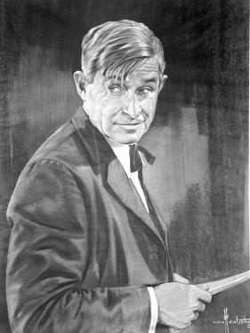 Will Rogers Posed in Black Suit with bow Tie by Movie Star News