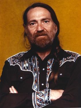 Willie Nelson in Black Shirt Portrait by Movie Star News