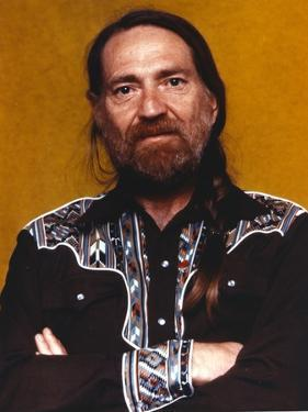 Willie Nelson in Black Shirt Portrait by Movie Star News