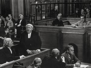 Witness For The Prosecution Cast Talking in Movie Scene by Movie Star News