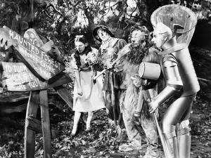 Wizard Of Oz Dorothy People Reading in Black and White by Movie Star News