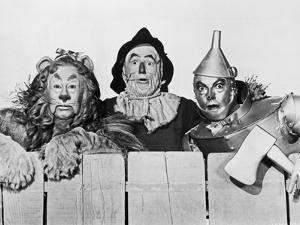 Wizard Of Oz Portrait Coward Lion, Scarecrow and Tinman by Movie Star News