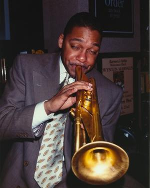 Wynton Marsalis Playing Trumpet in Portrait by Movie Star News