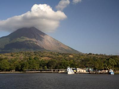 Moyogalpa Port and Conception Volcano, Ometepe Island, Nicaragua, Central America